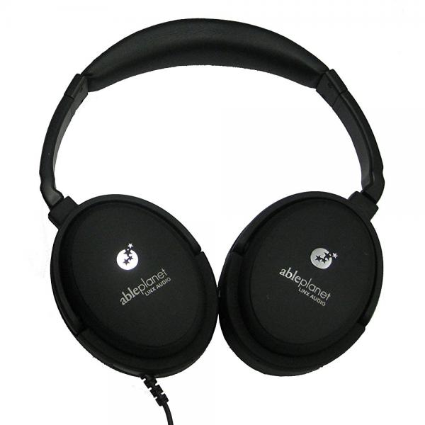 Image of ABLE PLANET NC300B True Fidelity Around-the-Ear Active Noise Canceling Headphones (Black) (Discontinued by Manufacturer)
