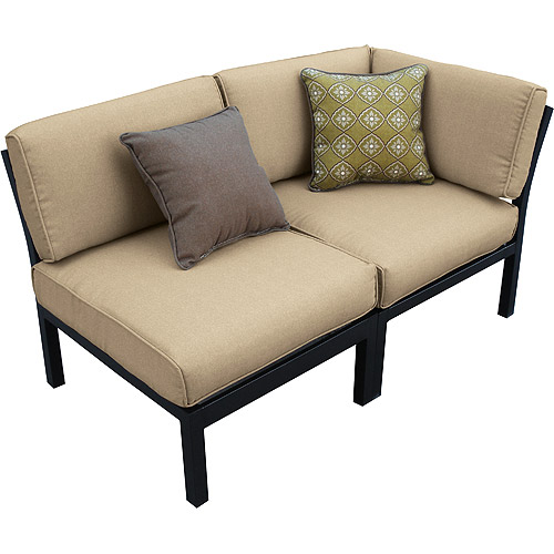 Simple Mainstays Ragan Meadow II Piece Outdoor Sectional Sofa Seats Walmart