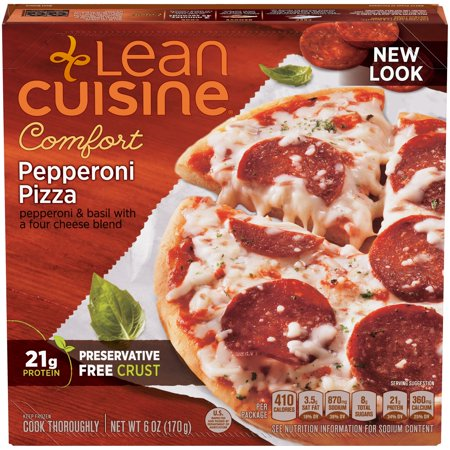Lean Cuisine Pepperoni Pizza 6 oz, Pack of (Mini Pizza D'halloween)