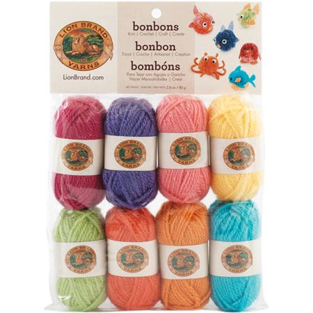 Lion Brand Bonbons Yarn, Available in Multiple Colors, 8/Pack