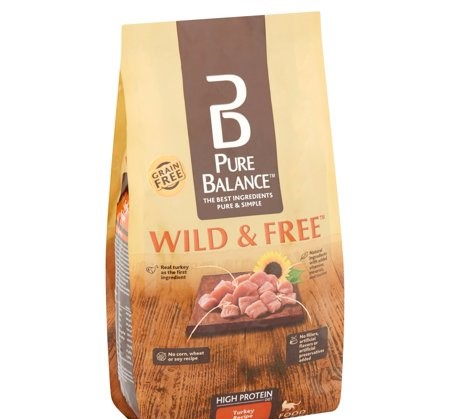 Pure Balance Grain-Free Wild & Free Turkey Recipe Dry Cat Food, 7 lb