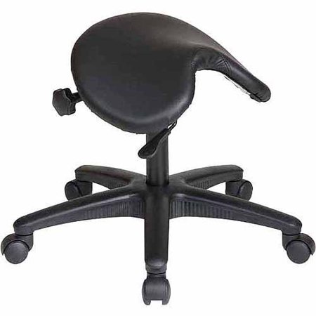 Office Star Work Smart Backless Saddle Seat Office Chair  White
