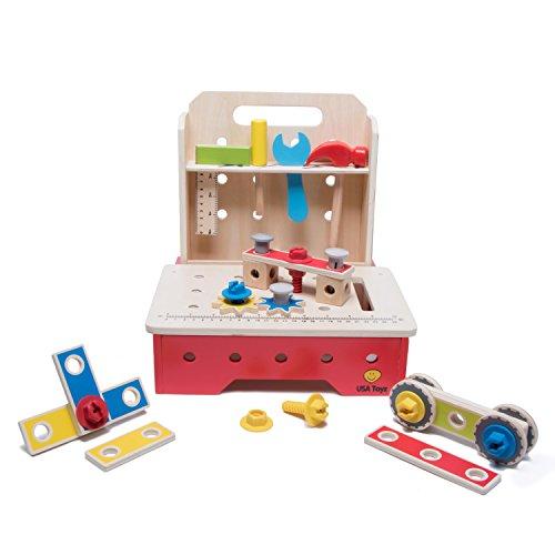 Workbench Kids Tool Set - Complete Foldable Workshop w/ C...