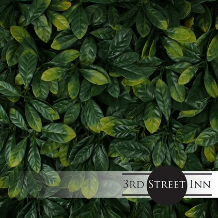 3rd Street Inn Artificial Hedge - Outdoor Artificial Plant - Great Boxwood and Ivy Substitute - Sound Diffuser Privacy Fence Hedge - Topiary Greenery Panels (12,