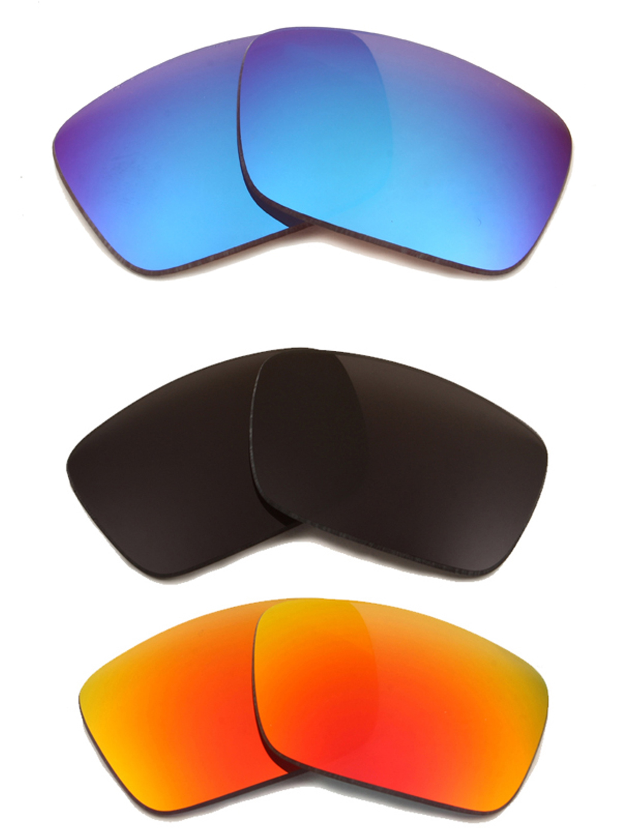 FUEL CELL Replacement Lenses Grey Blue & Red by SEEK fits OAKLEY Sunglasses