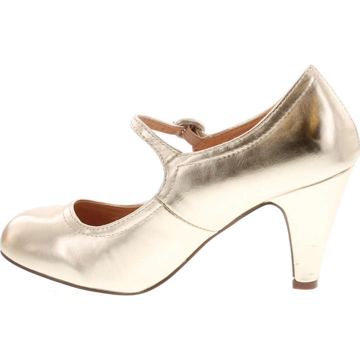 7b95360c3c92a Static Footwear - Static Footwear Kimmy-21 Women's Round Toe Pierced Mid  Heel Mary Jane Style Dress Pumps - Walmart.com