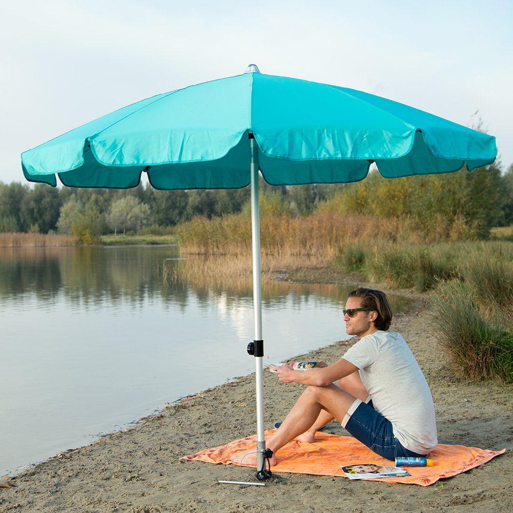 Sorara Patio Umbrella 7 1 2 Ft Round Aluminum Fiberglass Rib