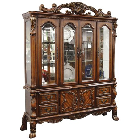 Dresden 12155 74 China Cabinet With 6 Doors 4 Drawers Touch Light Felt Lined Carved
