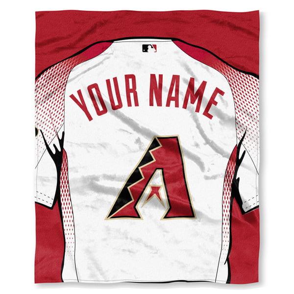 "MLB Arizona Diamondbacks ""Jersey"" Personalized Silk Touch Throw Blanket"