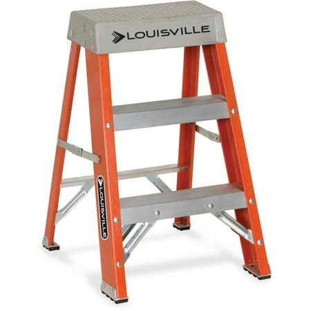 Louisville, DADFS1502, 2 Fiberglass Step Ladder, 1 Each, Orange