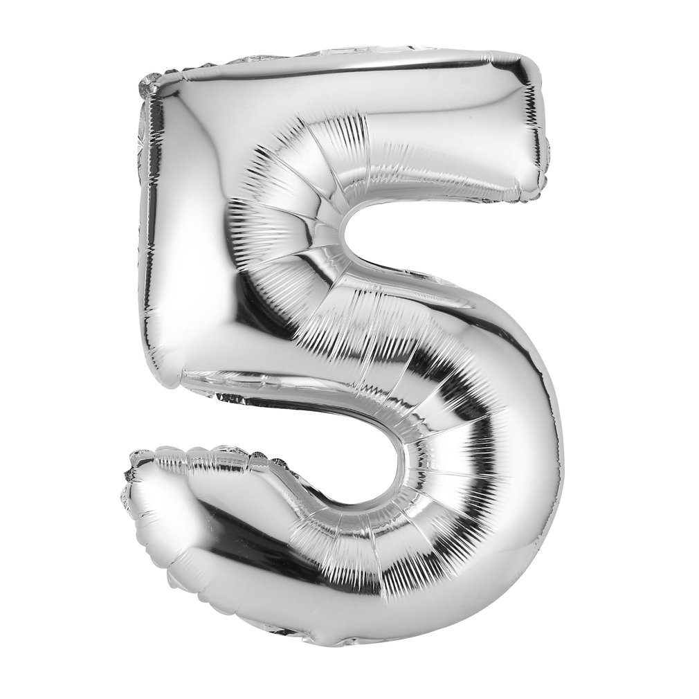 30 Inches Silver Number Foil Balloons Digit Air Ballons Birthday Party Wedding Decor Air Baloons Event Party Supplies