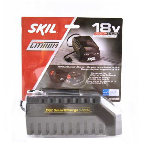 SKIL Dual Chemistry charger for  Li-Ion and  NiCd 18-Volt Batteries