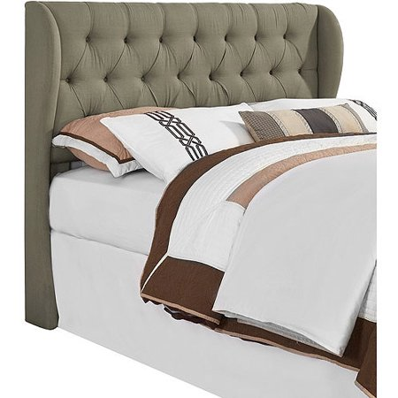 York Tufted Wing Upholstered Headboard, King/Cal King, (California King Upholstered Headboard)