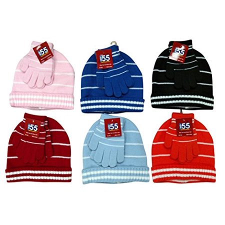 ef36f58bfea 6 Sets Of Kids Hat And Matching Glove Winter Set - Walmart.com