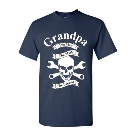 Grandpa The Man The Myth The Legend Men's T Shirts Sizes S - (Myth Legend T-shirt)