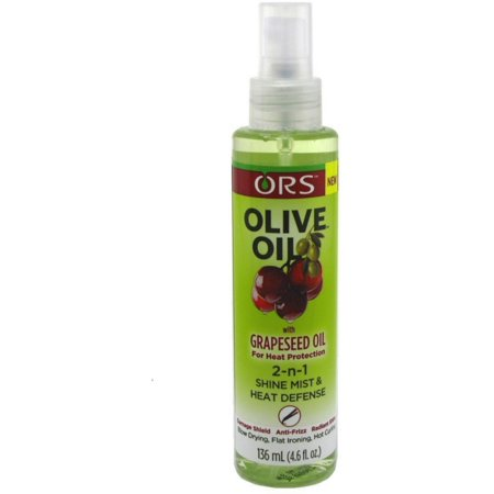 (2 Pack - ORS Olive Oil With Grapeseed Oil 2-N-1 Shine Mist & Heat Defense 4.6 oz)