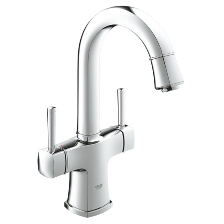 Grandera 2 Handle Single Hole High Arc Bathroom Faucet 1 2 Gpm