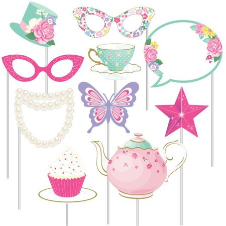 Creative Converting Floral Tea Party Photo Props, 10 ct](Creative Photo Props)