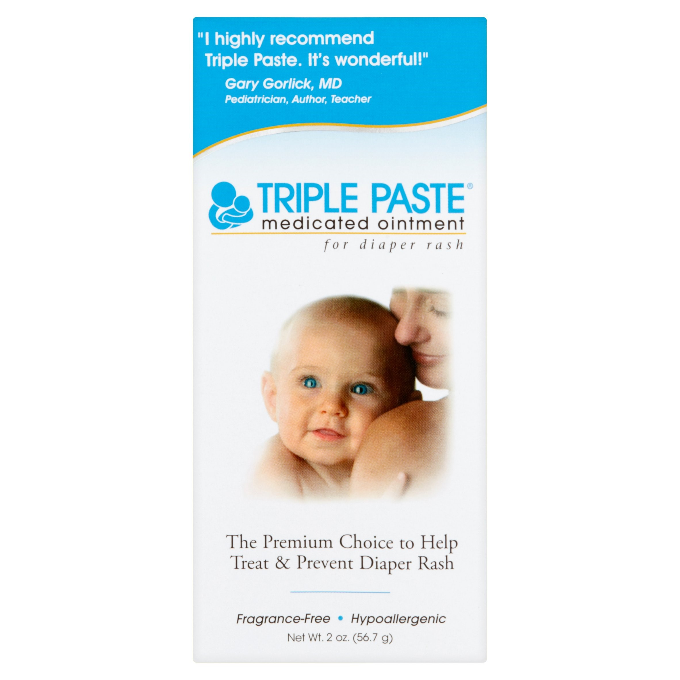 Triple Paste Medicated Ointment for Diaper Rash 2 oz