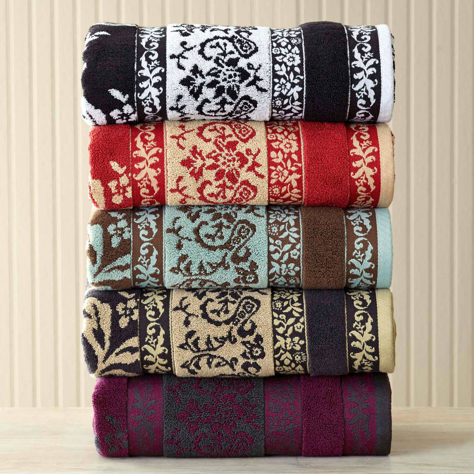Better Homes and Gardens Tulip Scroll Towel Collection