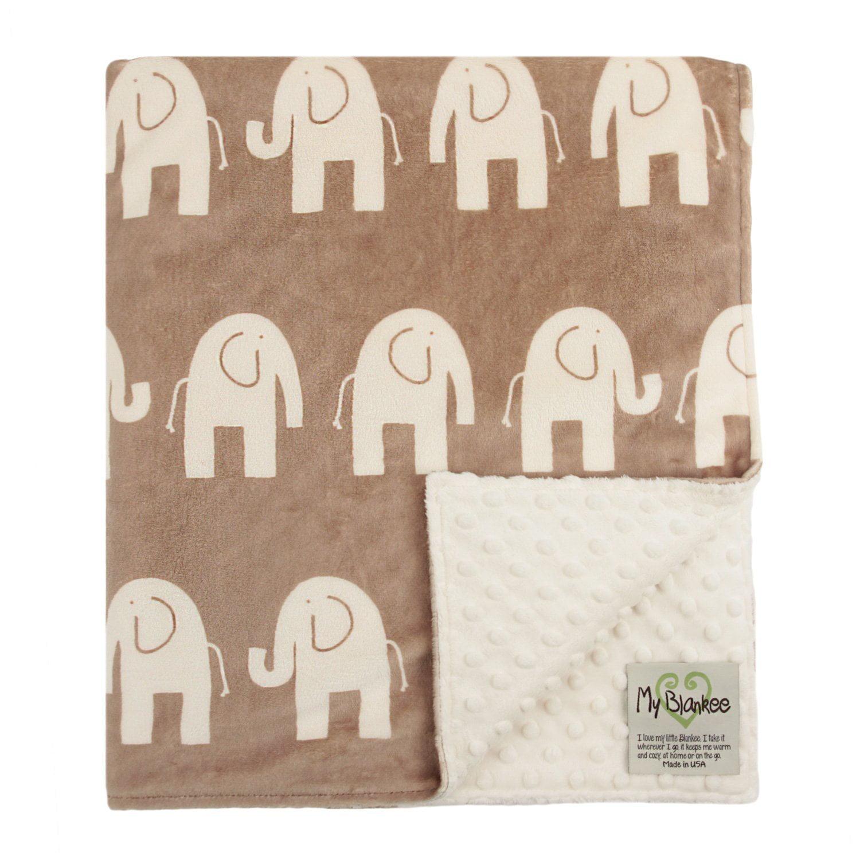 My Blankee Dolce Vita Elefante Minky Biscuit/Ivory w/ Min...