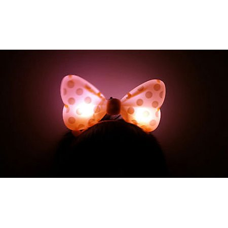 LWS LA Wholesale Store  1 LIGHT UP MINNIE MICKEY MOUSE BOWS POLKA DOTS HEADBANDS FAVOR PARTY EARS (Orange) & 1 Free miniature figures](Minnie Mouse Ears Party City)