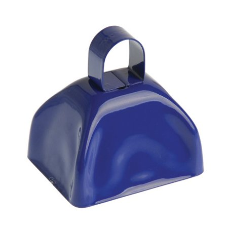 US TOY KD21-07 School Spirit Metal Cowbells Blue - Spirit Cowbells