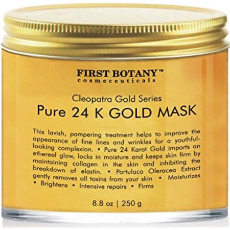 The BEST 24 K Gold Facial Mask 8.8 oz - Gold Mask for Anti Wrinkle Anti Aging Facial Treatment, Pore Minimizer, Acne Scar Treatment & Blackhead