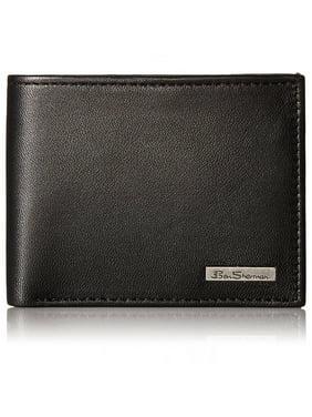 Ben Sherman Mens Brick Lane Genuine Leather Wallet Traveler ID Passcase Bifold