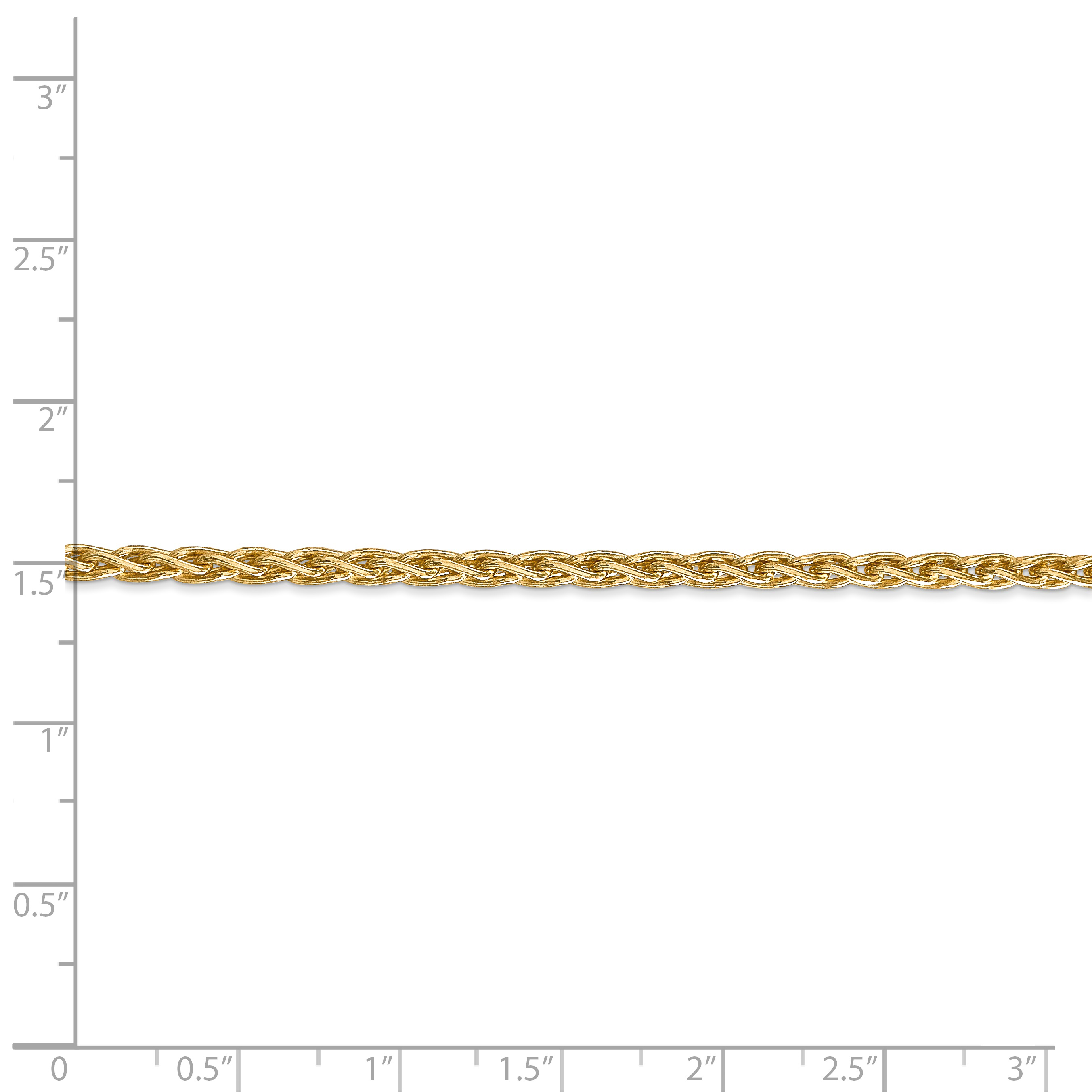 14K Yellow Gold 3mm Parisian Wheat Chain 30 Inch - image 2 de 5