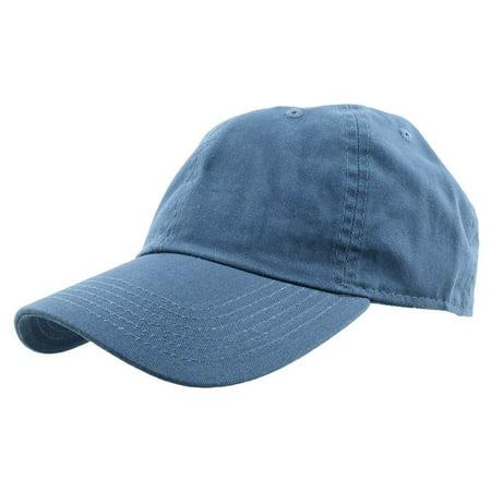 Blue Hat (Falari Baseball Cap Hat 100% Cotton Adjustable Size)