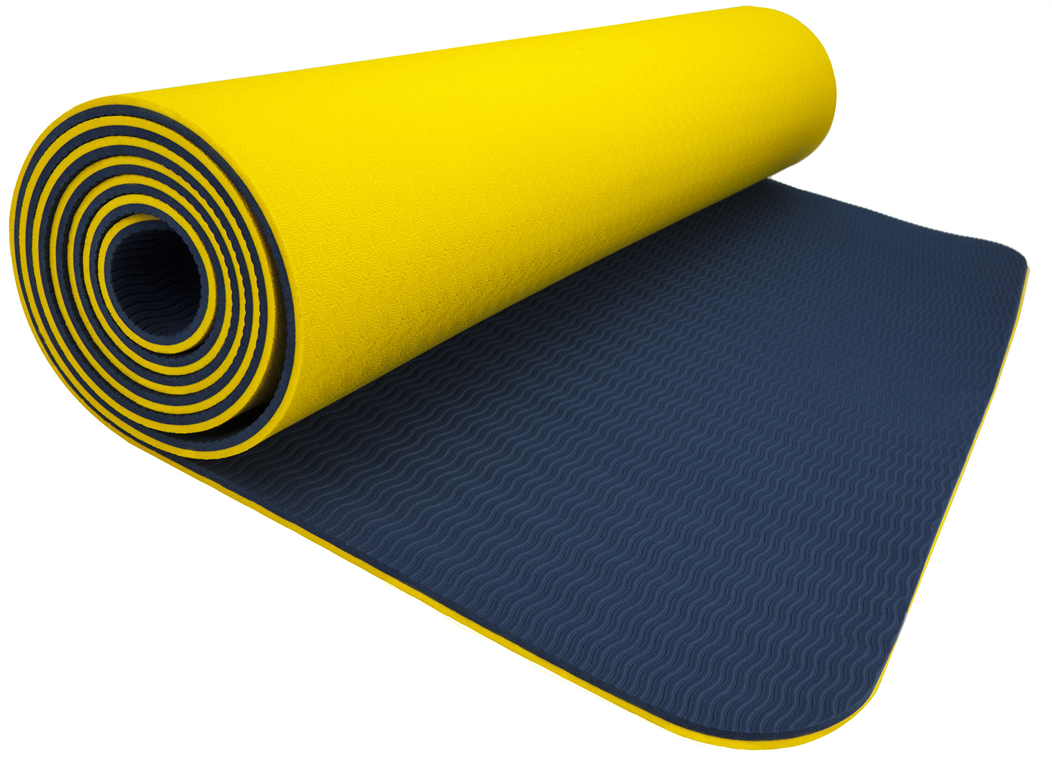 "Wacces TPE Exercise Fitness Yoga Gym Training Premium Mat 72""x 24""x 1 4"" Dual Reversible Non-Slip 6mm (... by"