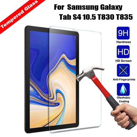 Samsung Galaxy Tab S4 10.5 Screen Protector, EpicGadget(TM) Ultra HD Clear Anti Bubble/Fingerprint/Scratch 9H Hardness Tempered Glass Screen Protector For Galaxy Tab S4 (SM-T830 /SM-T835) 2018 (Best Screen Protector For Samsung Galaxy S4)