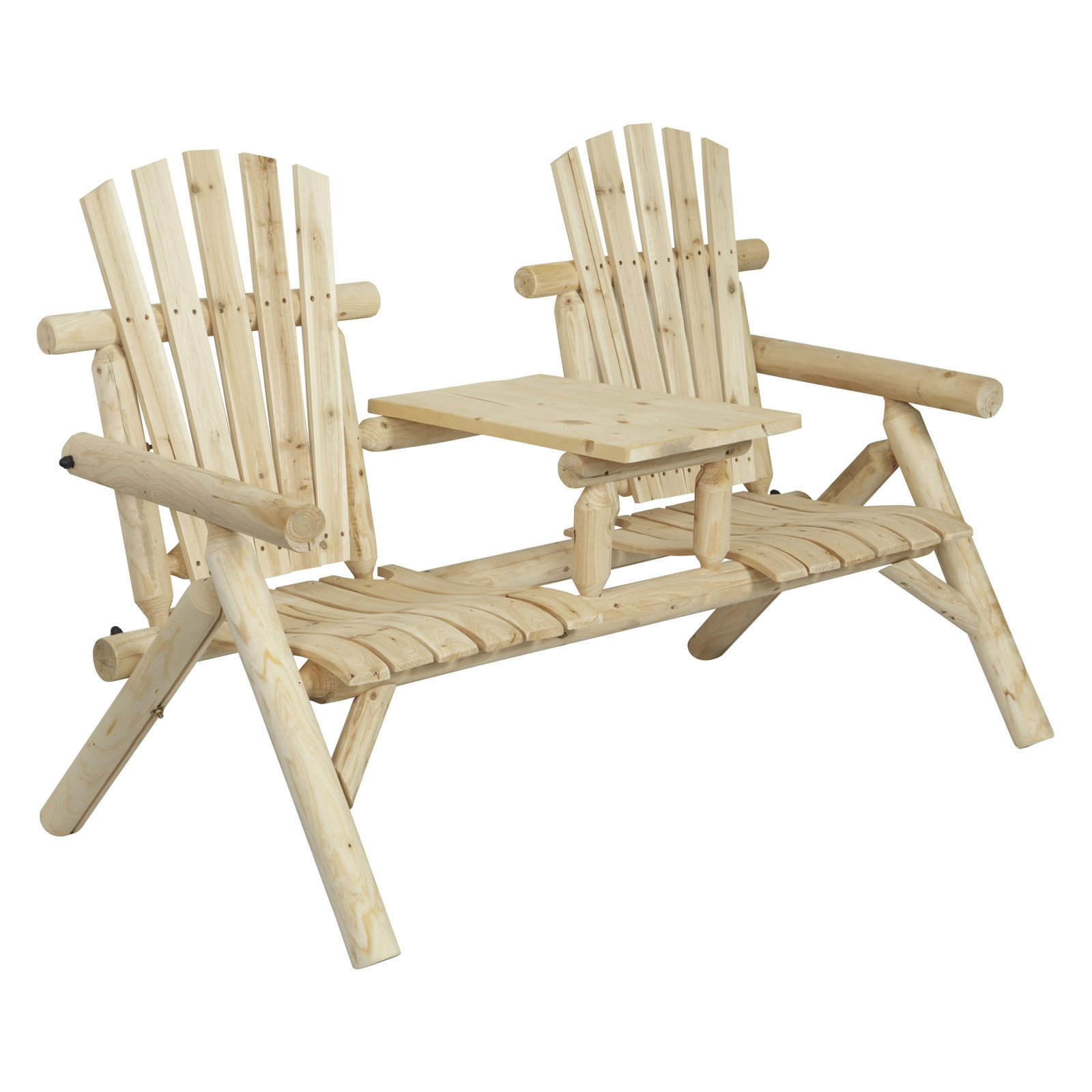 American Furniture Classics 2-Seat Bench, Natural Finish