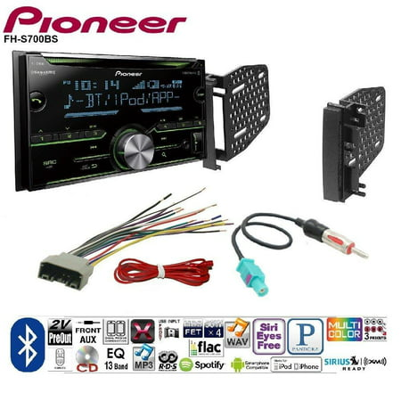 Pioneer Double DIN CD Receiver Built-in Bluetooth, and SiriusXM-Ready CHRYSLER DODGE JEEP MITSUBISHI RAM VOLKSWAGEN CAR CD STEREO RECEIVER DASH INSTALL MOUNTING