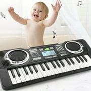 Electronic Piano Keyboard 37 Key Music Keyboard Piano for Kids Portable Musical Instrument Keyboard for Kids Boys Girls,Black