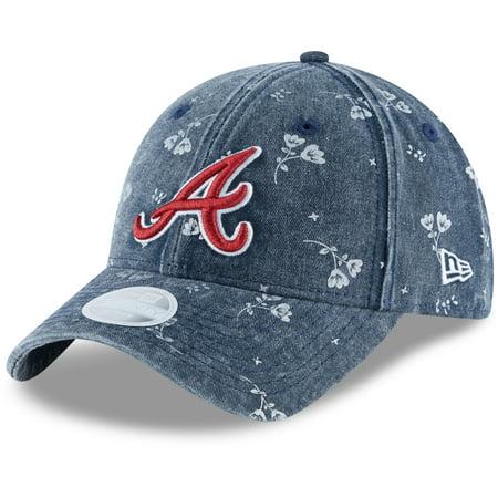 huge selection of 17649 1c08a Atlanta Braves New Era Women s Floral Shine 9TWENTY Adjustable Hat ...