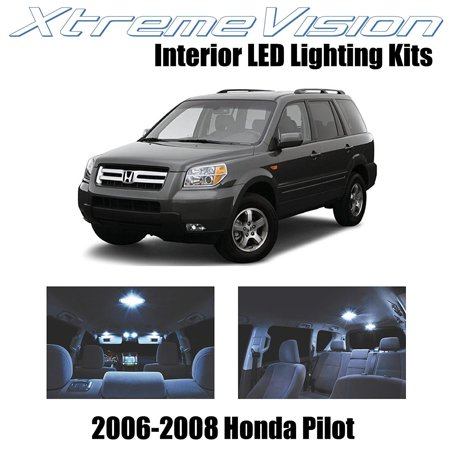 - XtremeVision LED for Honda Pilot 2006-2008 (12 Pieces) Cool White Premium Interior LED Kit Package + Installation Tool Tool