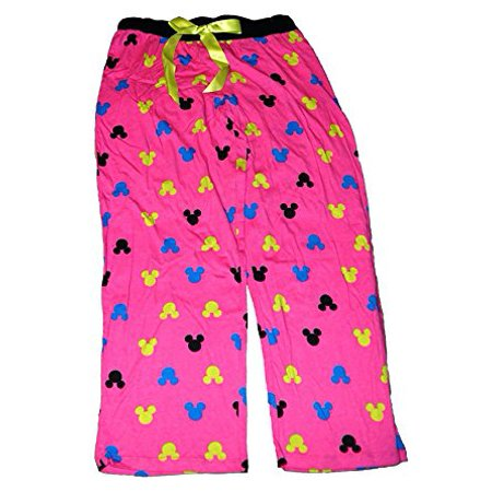 [P] Disney Minnie Mouse Womens Pajama Pants With Silhouette Print - Hot Pink LG Disney Womens Minnie Mouse