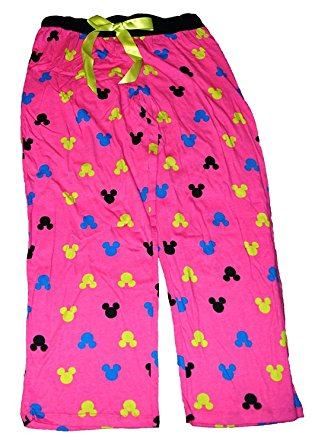 [P] Disney Minnie Mouse Womens Pajama Pants With Silhouette Print - Hot Pink LG