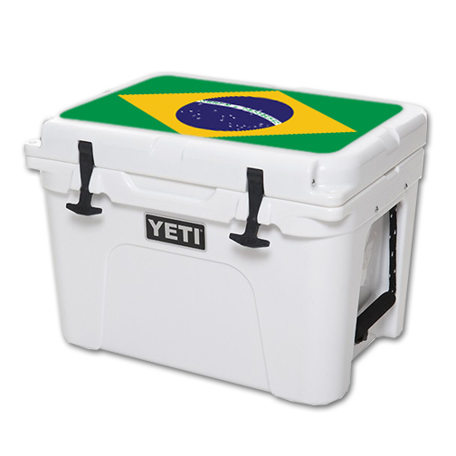MightySkins Protective Vinyl Skin Decal for YETI Tundra 35 qt Cooler Lid wrap cover sticker skins Brazilian Flag