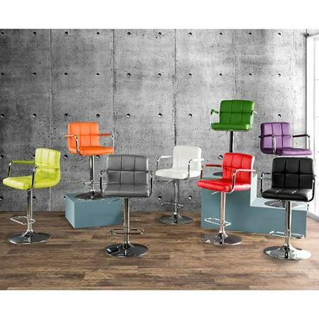 Furniture of America Corvelli Adjustable Swivel Leatherette Bar Stool Black