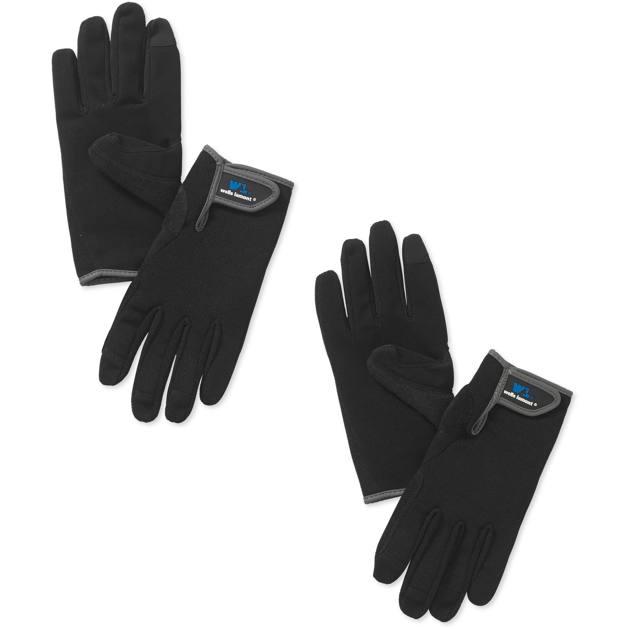 Black leather gloves brisbane - Wells Lamont Synthetic Leather High Dexterity Work Gloves With Touch Screen Technology Black 2