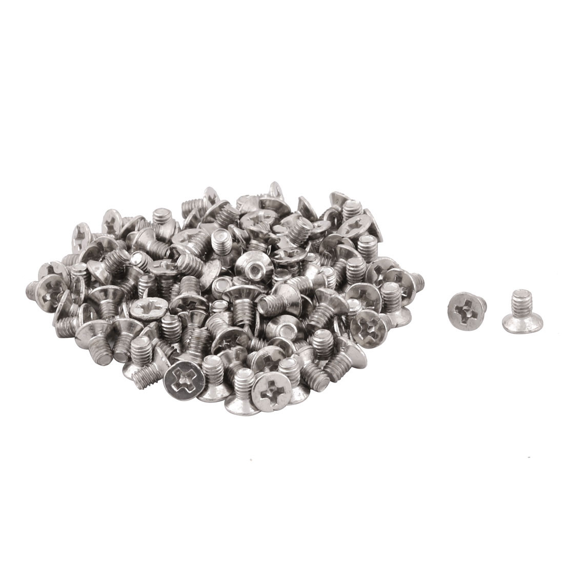 Family Canteen Stainless Steel Furniture Table Hardware Machine Bolts 120 Pcs - image 3 de 3