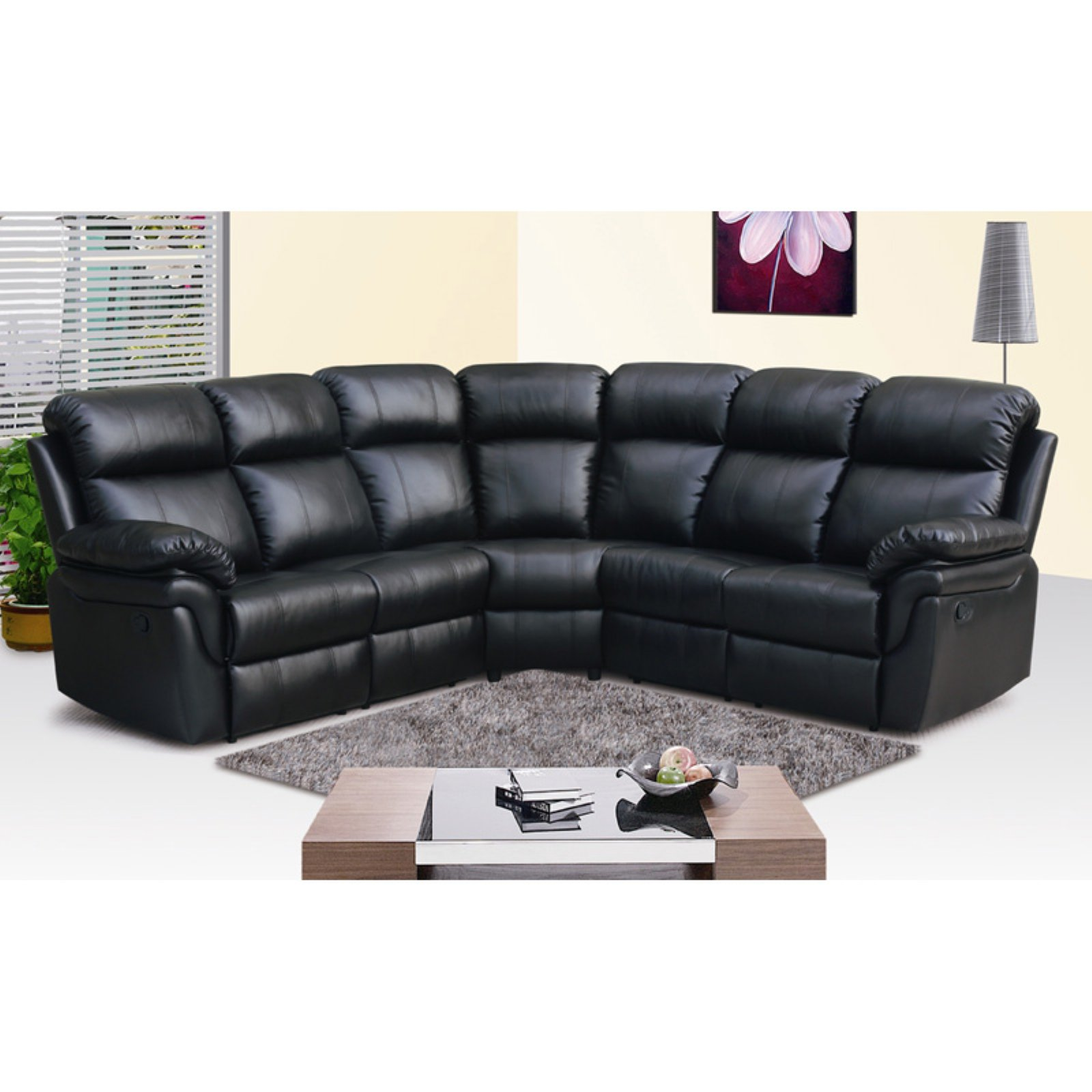 Frankfurt Sectional Sofa with Two Recliners Walmart