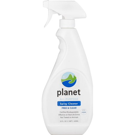 Planet All Purpose Spray Cleaner, Free & Clear, Certified Biodegradable, 22 oz.