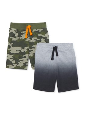 365 Kids from Garanimals Boys 4-10 Ombre & Camo Knit Shorts 2-Pack