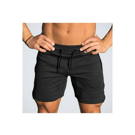 Men Slim Comfortable Drawstring Waist Fitness Active Short - image 1 of 2