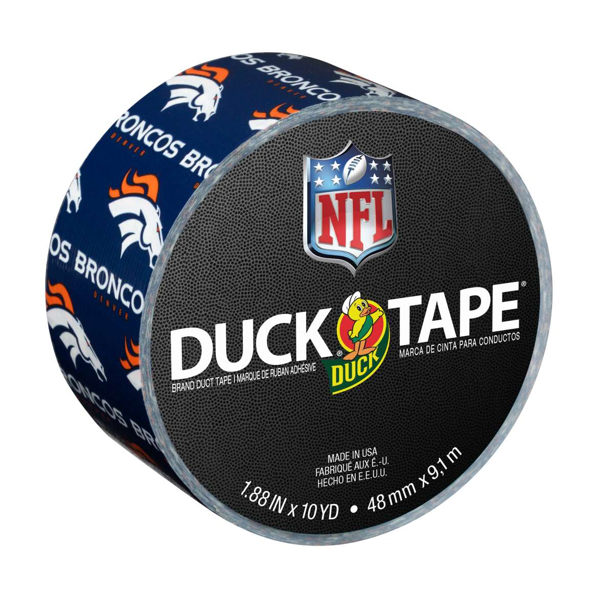 NFL Licensed Duck Tape Brand Duct Tape - Denver Broncos, 1.88 in. x 10 yd.