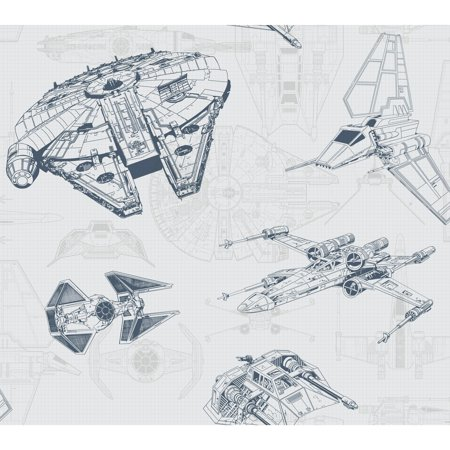Disney Kids III Star Wars Ship Schematic Wallpaper - Civil War Wallpaper